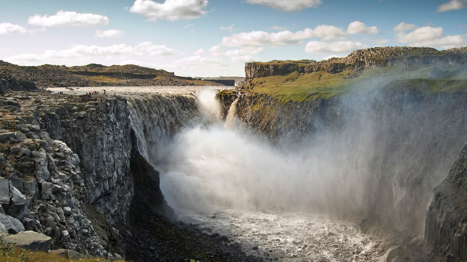 Powerful waterfall Detifoss