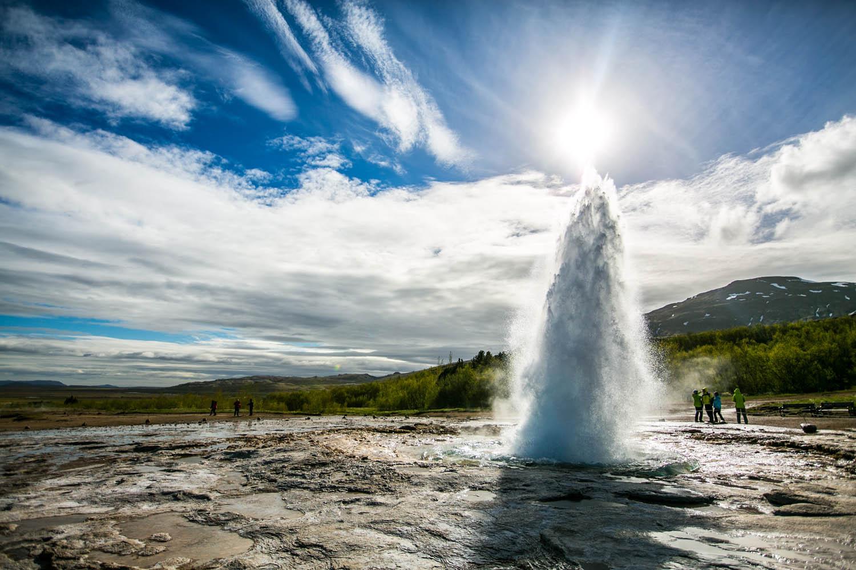 Strokkur geyser erupting - Golden Circle