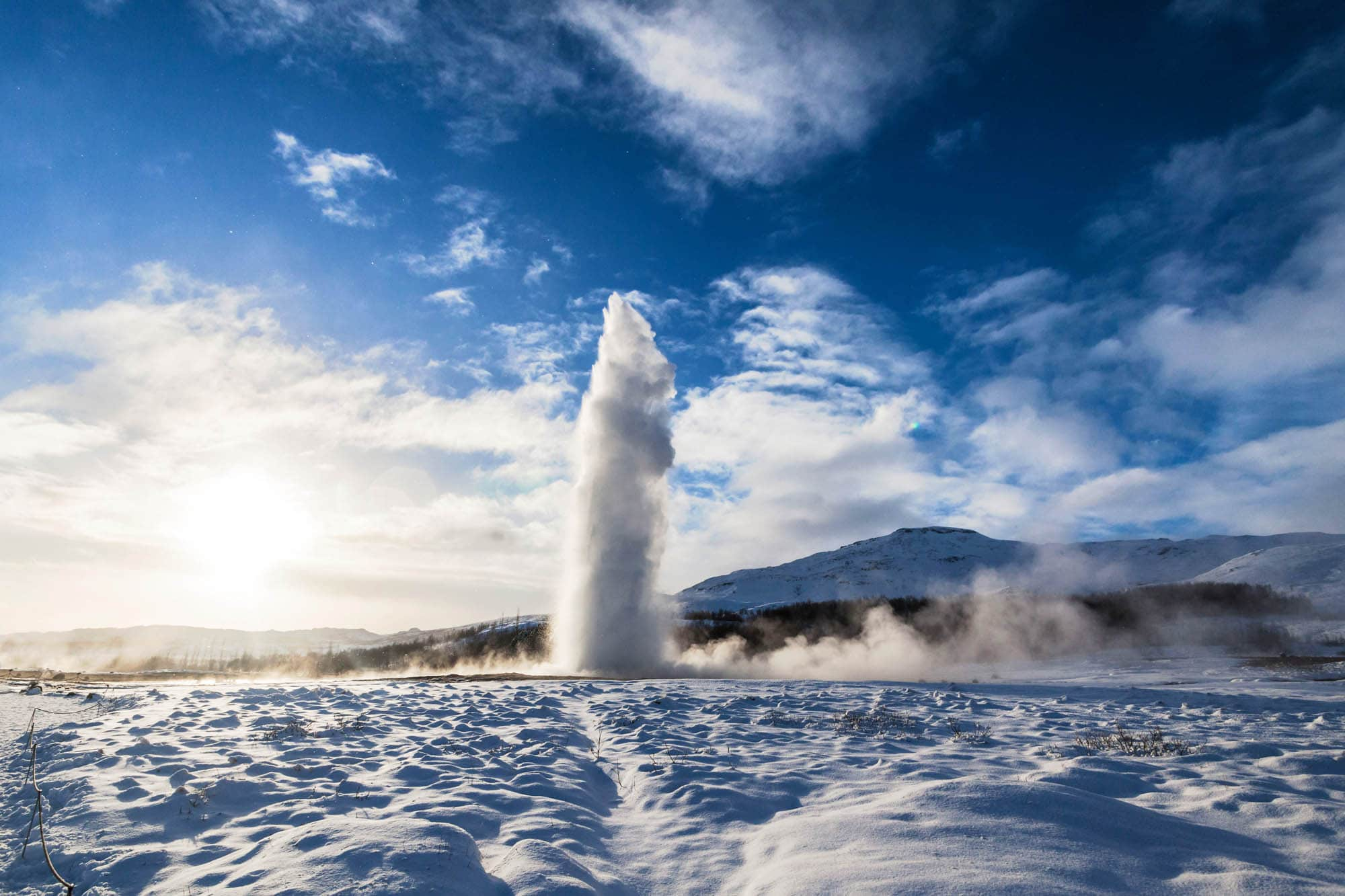 Geysir in winter - Iceland family holidays