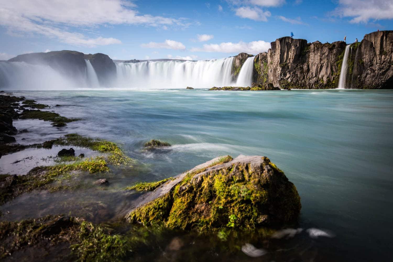 Beautiful Godafoss Waterfall in summer