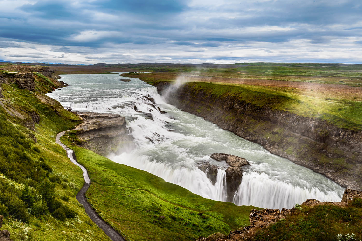 Gulfoss waterfall in Iceland - iceland round trip