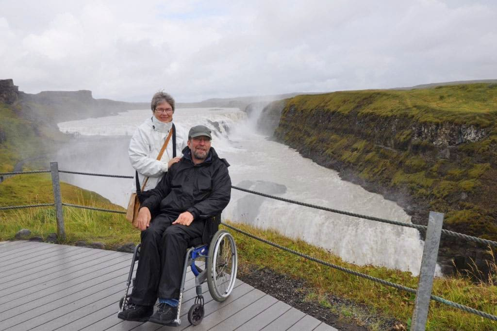 Gullfoss Waterfall - South Coast - Iceland for wheelchair users