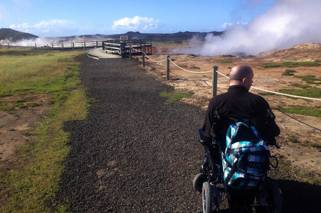Iceland for wheelchair users - Gunnuhver - Reykjanes Peninsula