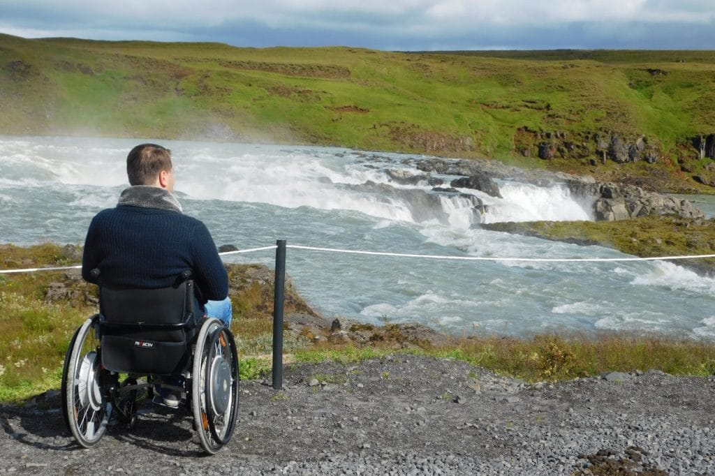 Gullfoss Waterfall - The Golden Circle - Iceland for wheelchair users