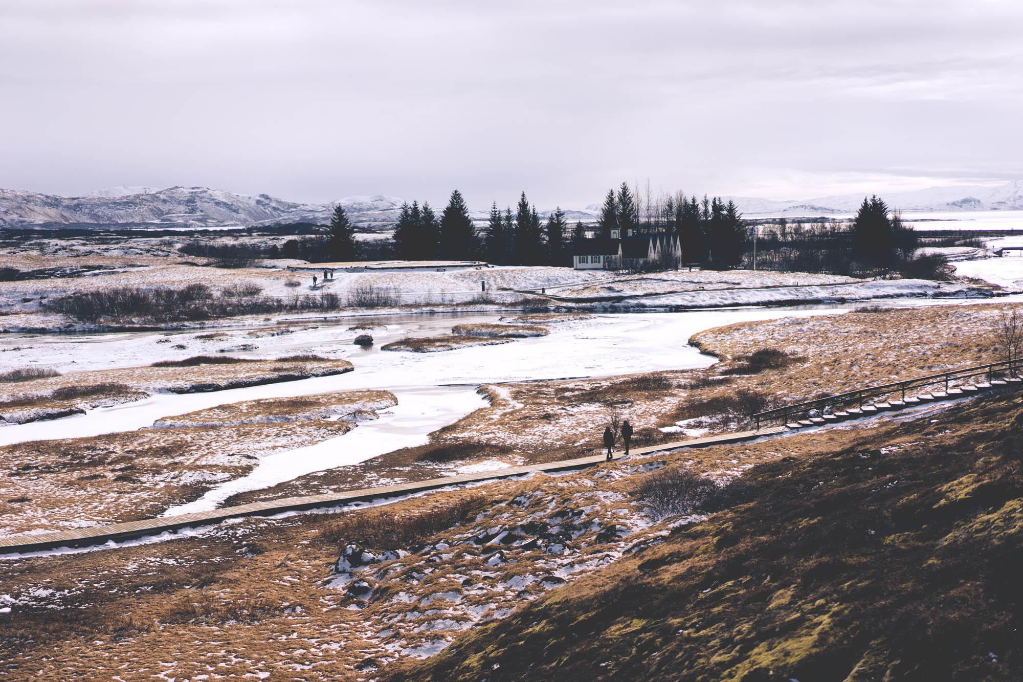 Thingvellir in winter - romantic iceland