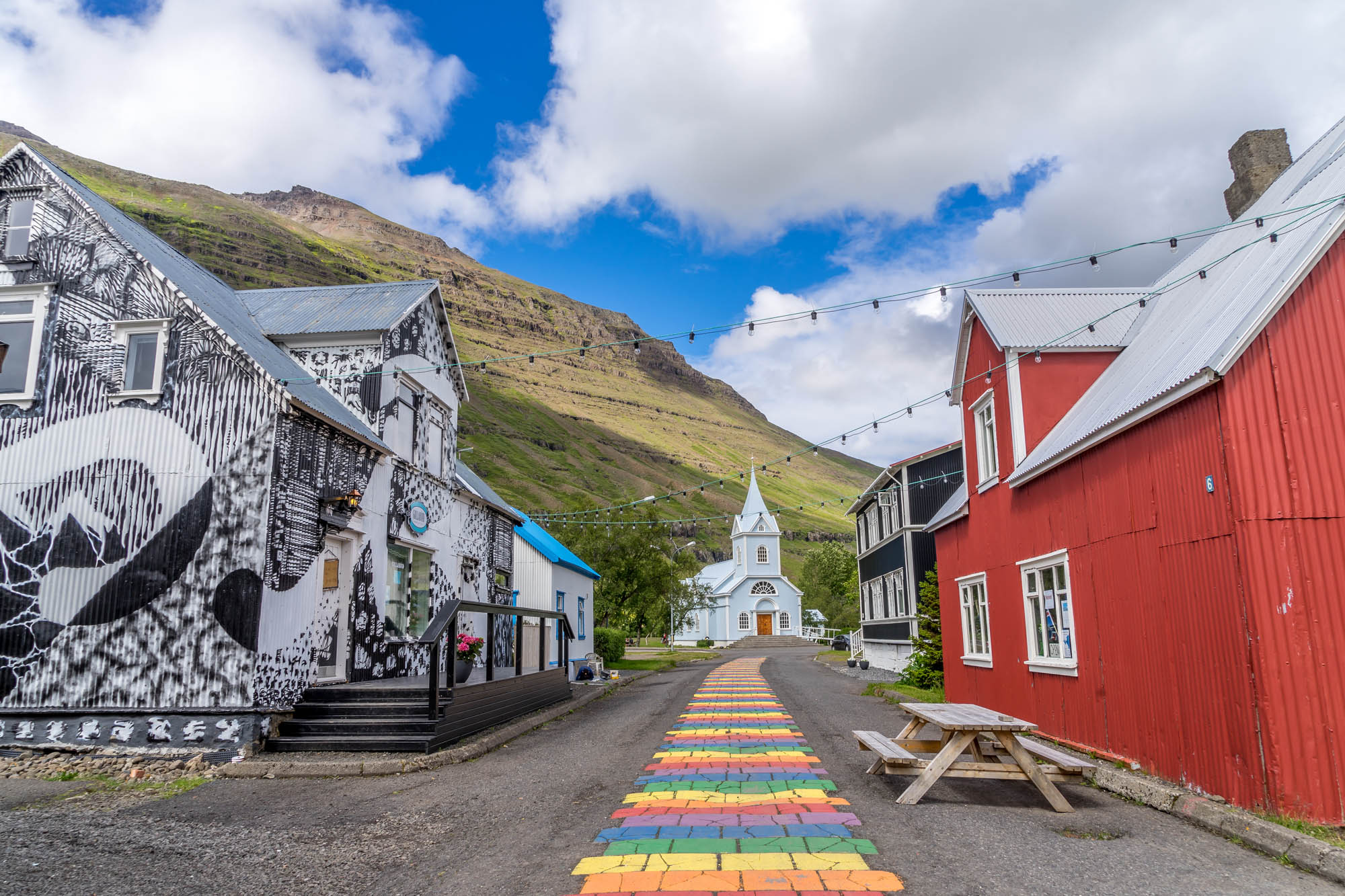 Small typical town in Iceland