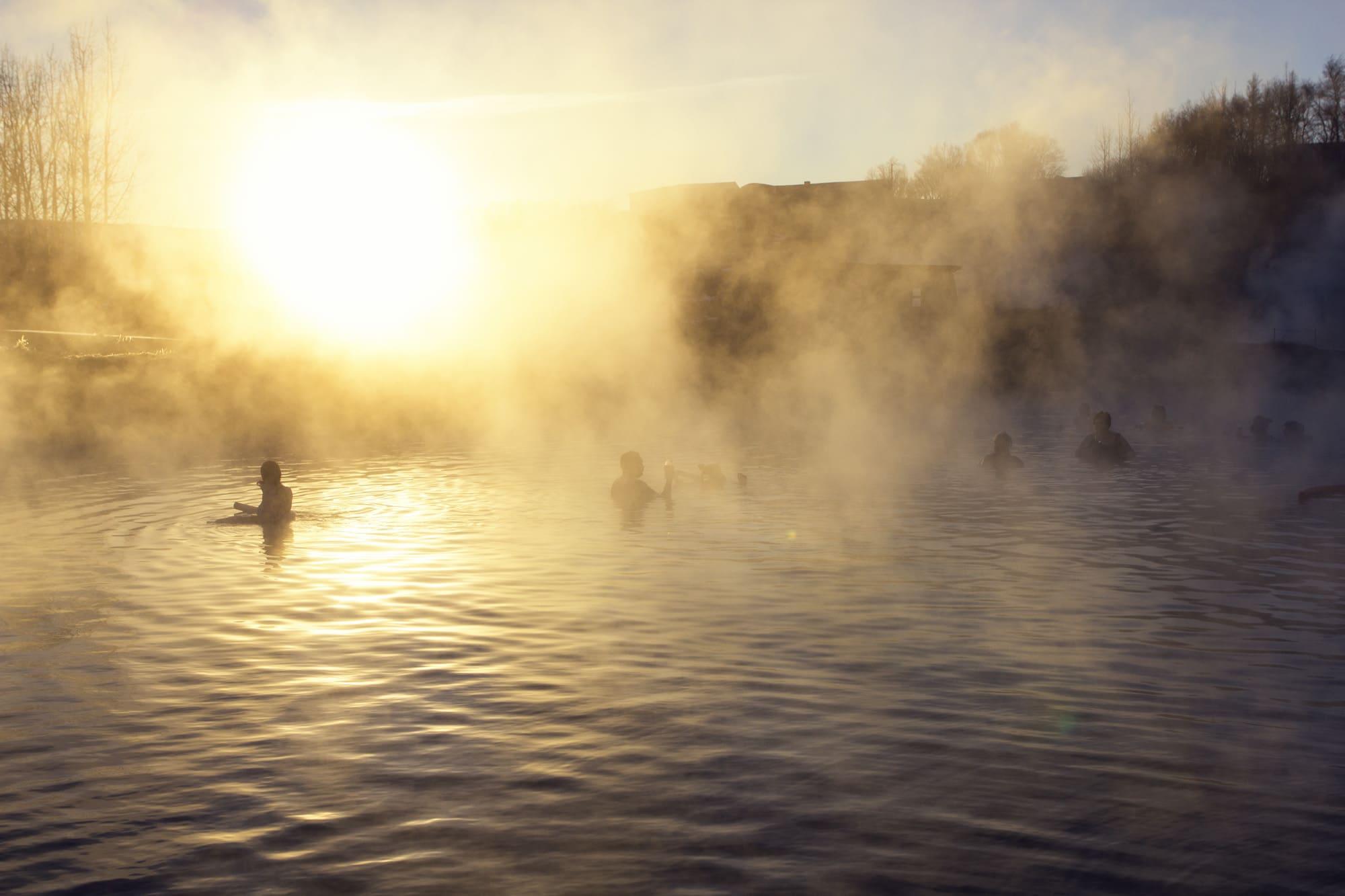fludir secret lagoon - geothermal bathing iceland