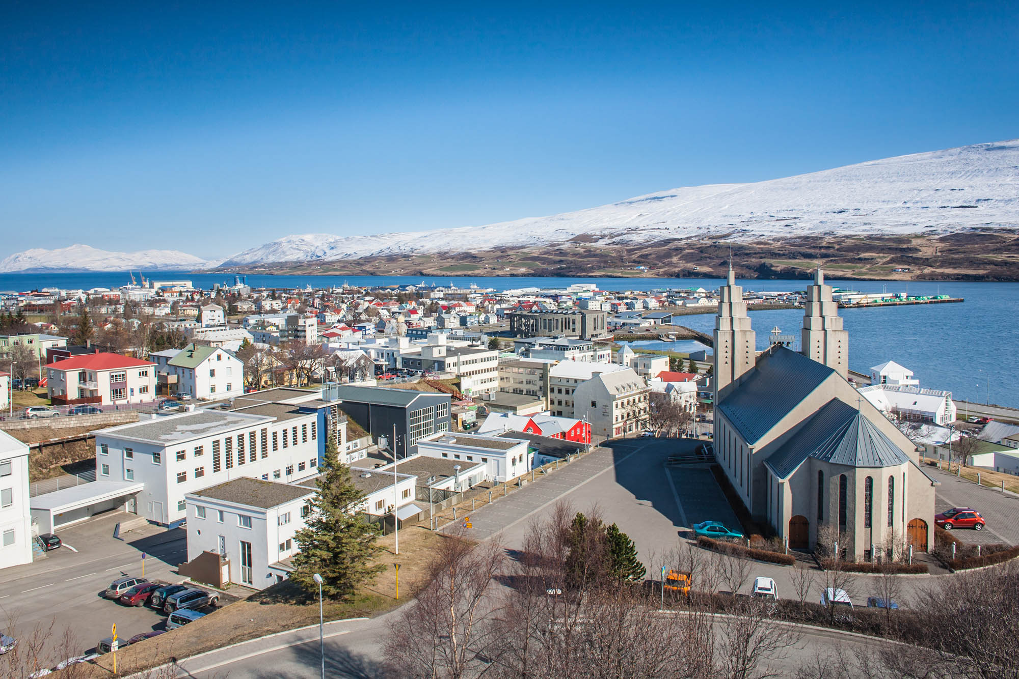 Winter view over Akureyri