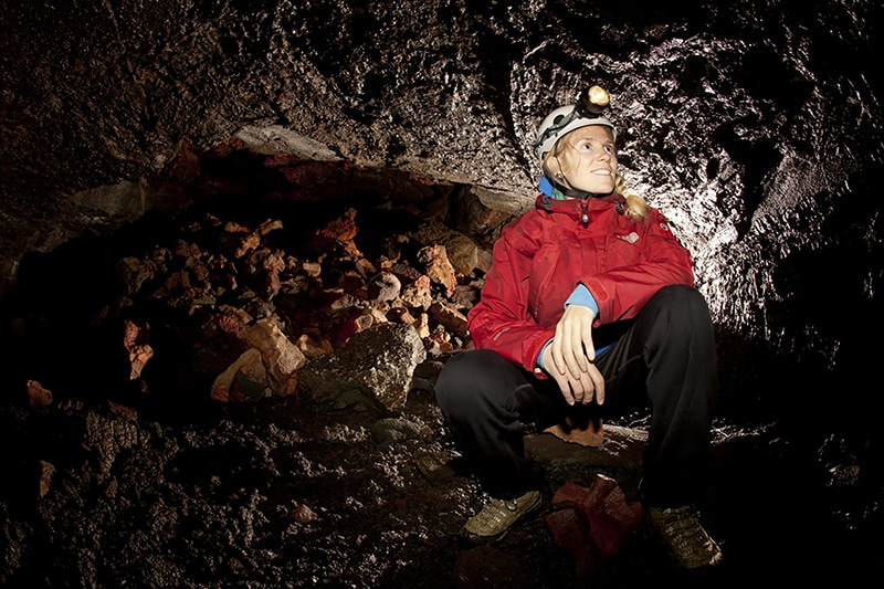 Iceland cave tour