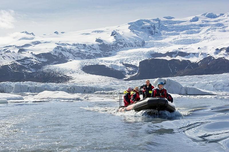 boat tour iceland glacier lagoon Fjallsarlon