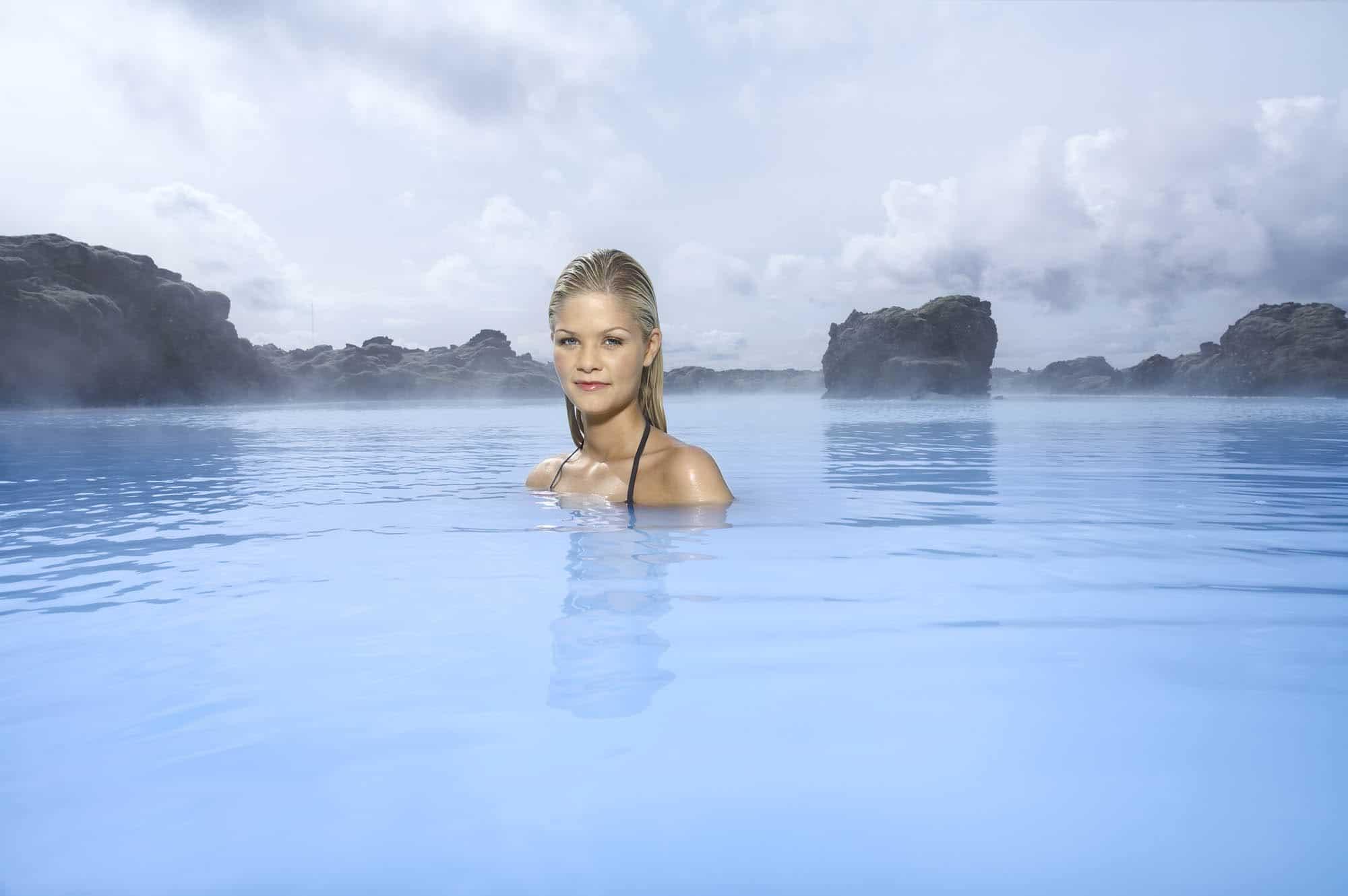 Enjoying the Blue Lagoon