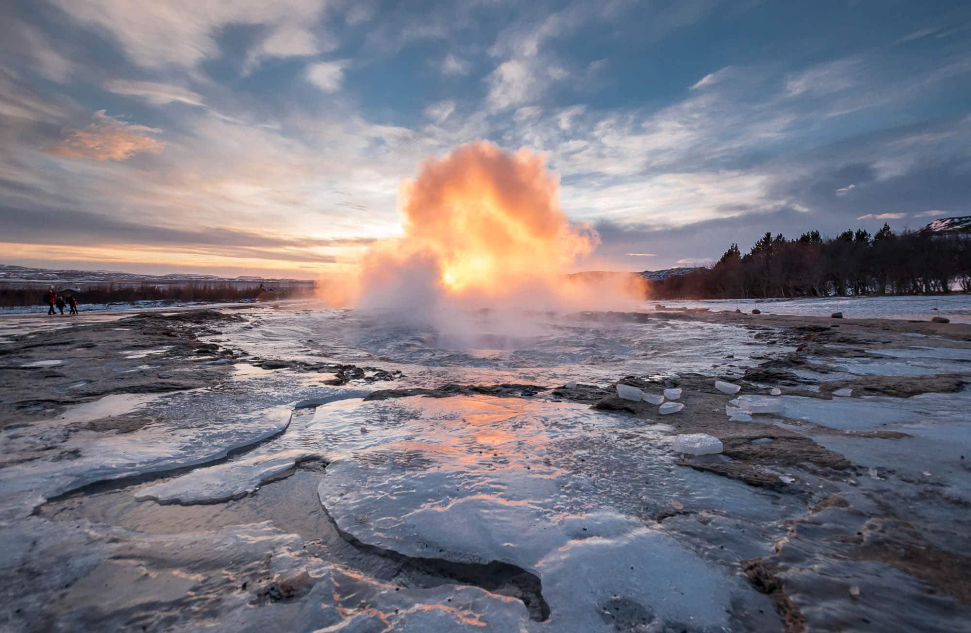 Steamy Geysir - Golden Circle Iceland