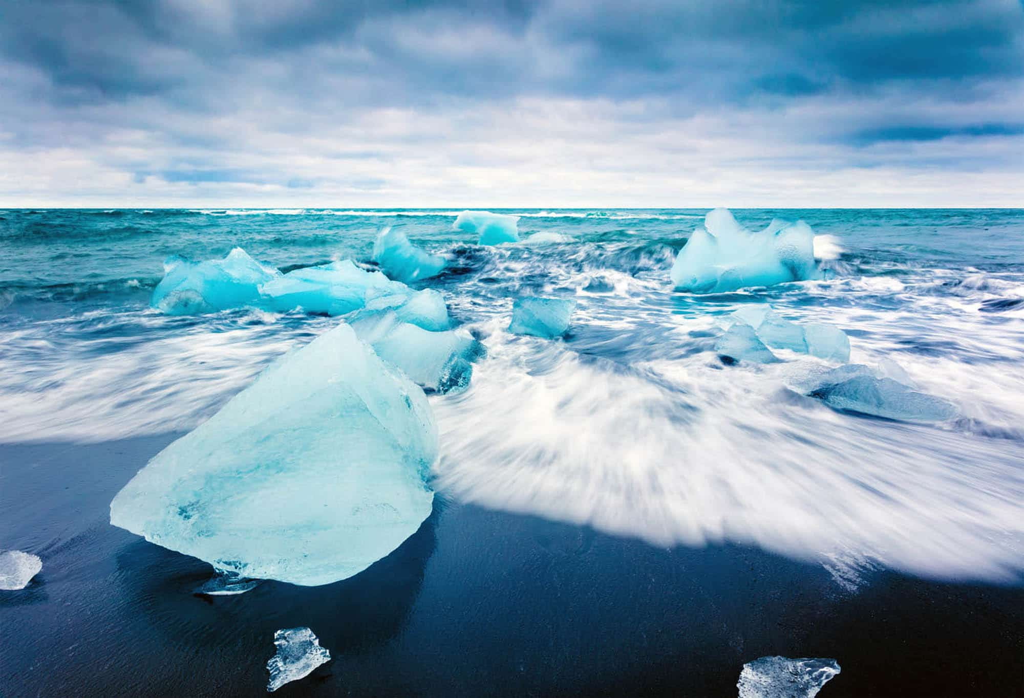Diamond Beach at the Glacier Lagoon Iceland