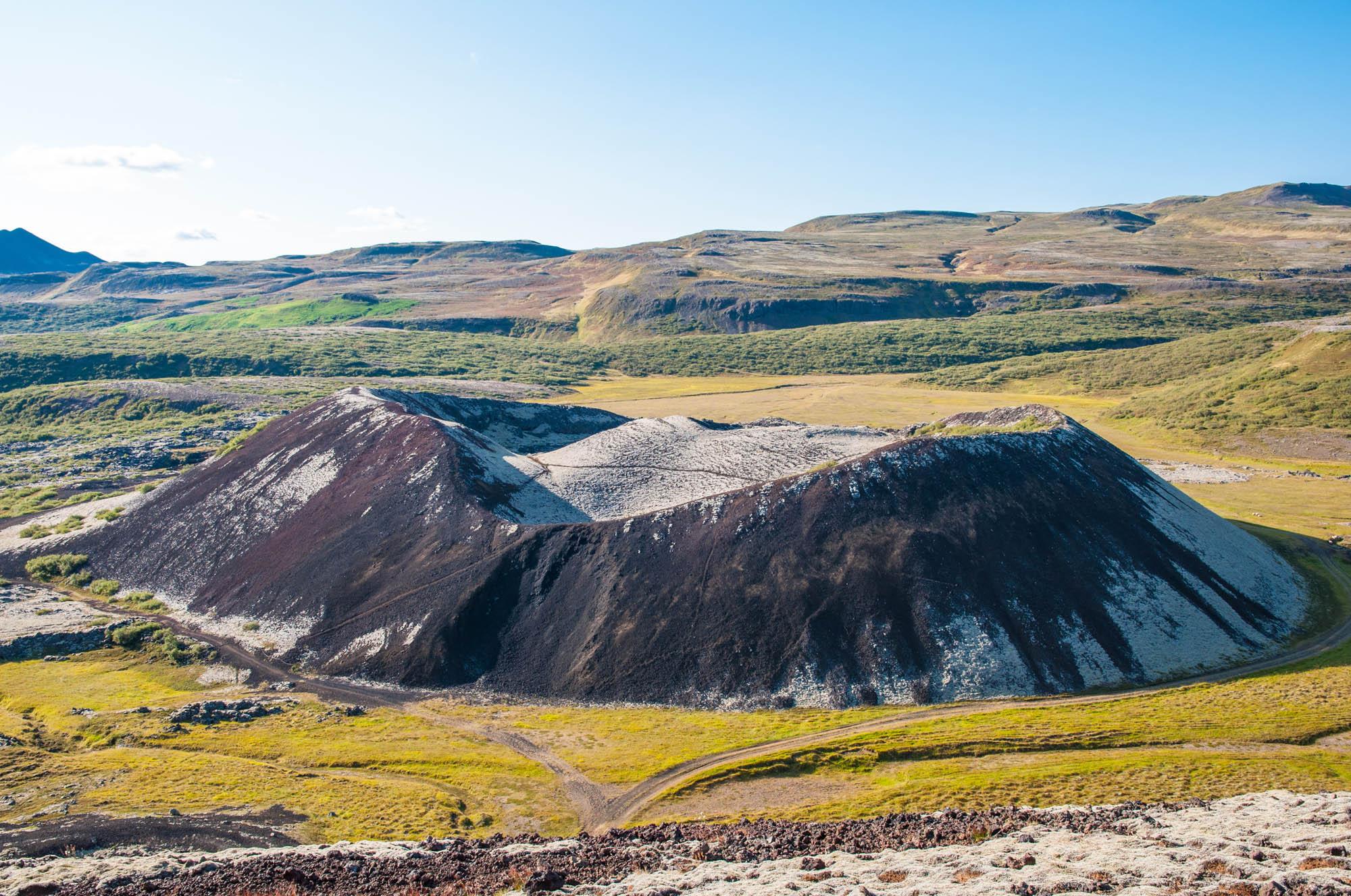 Round tour Iceland - Grabrok crater in Iceland