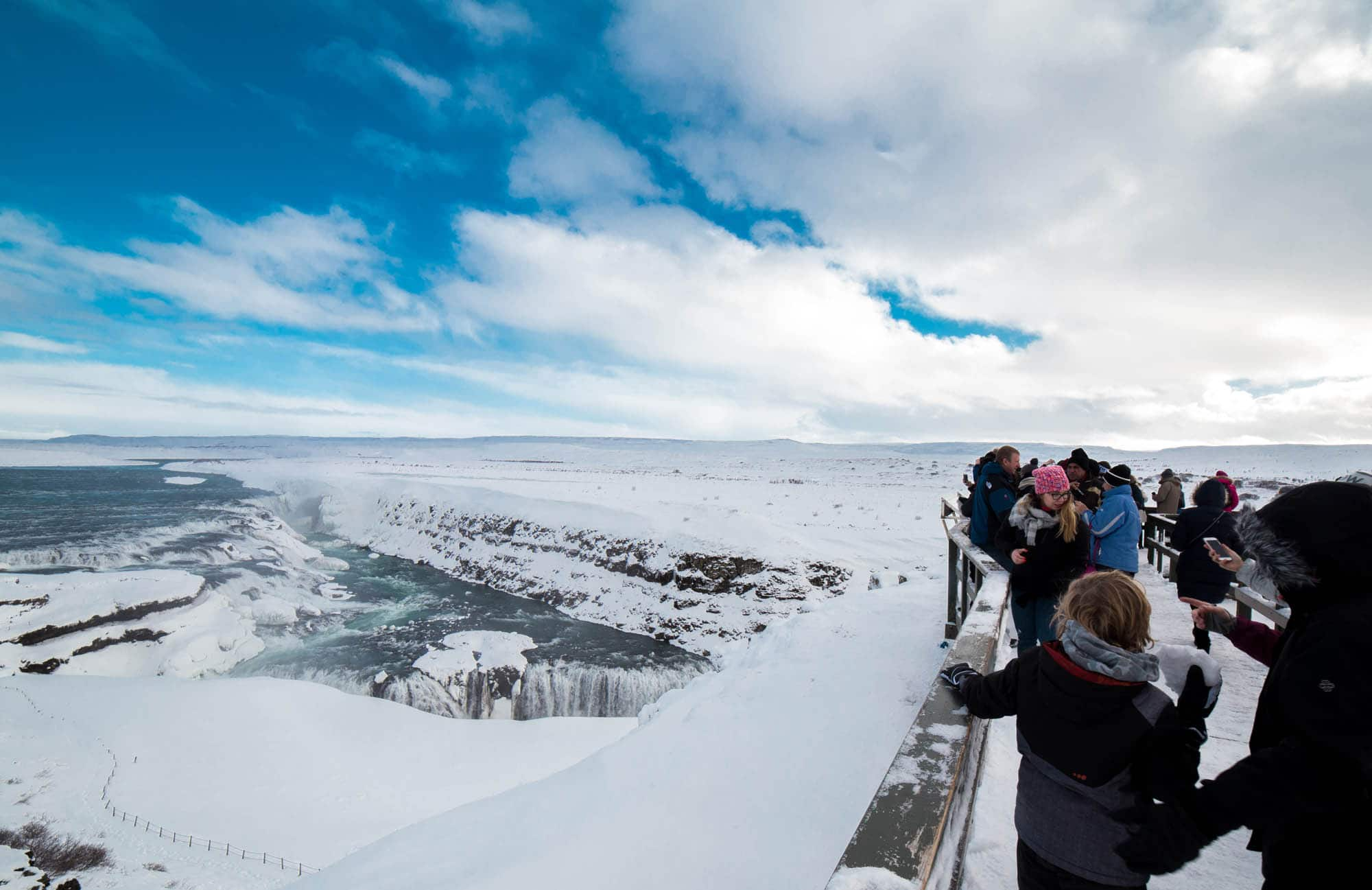 Gullfoss waterfall - December in Iceland
