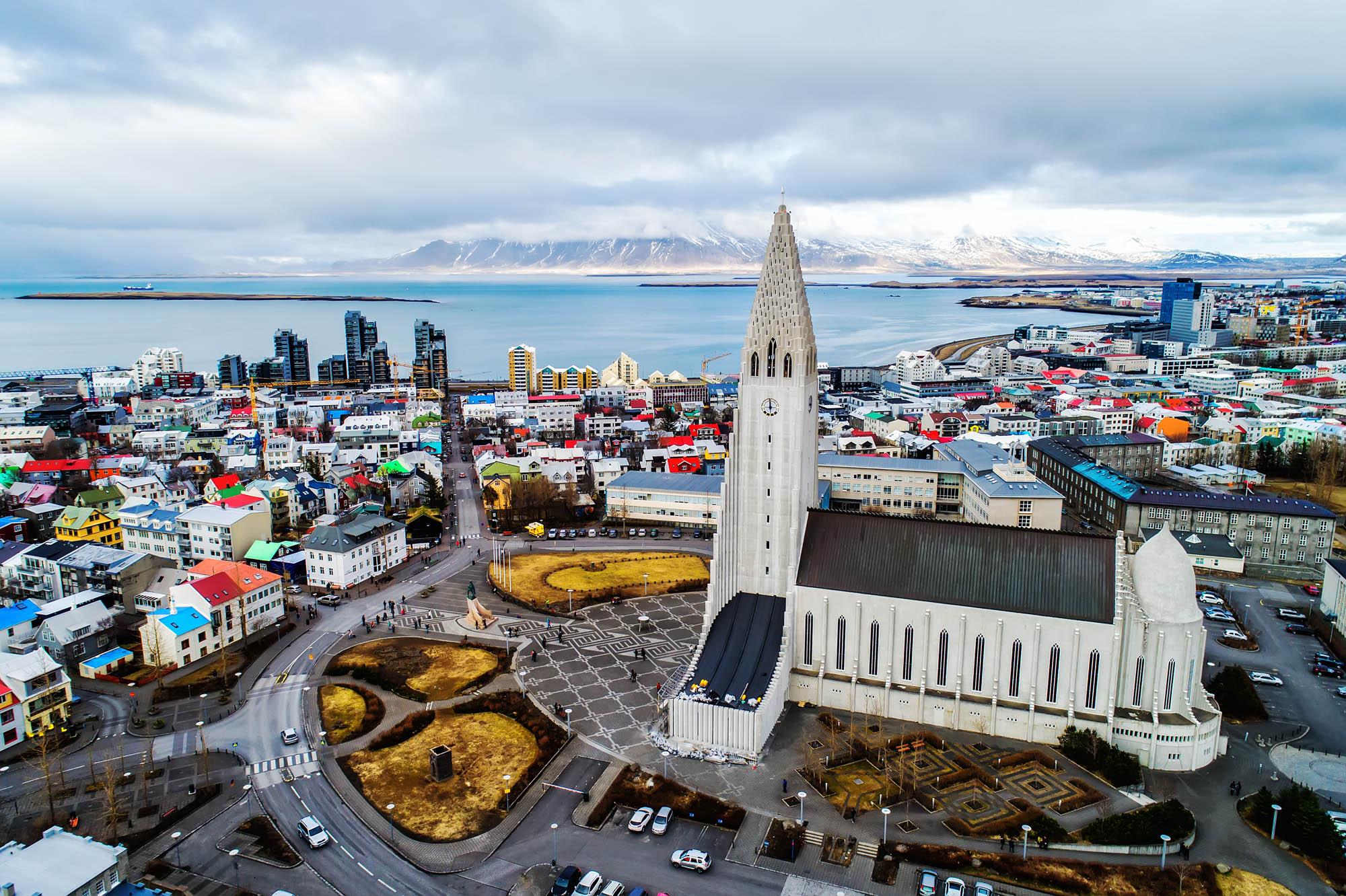 Hallgrimskirkja in Reyjkavik