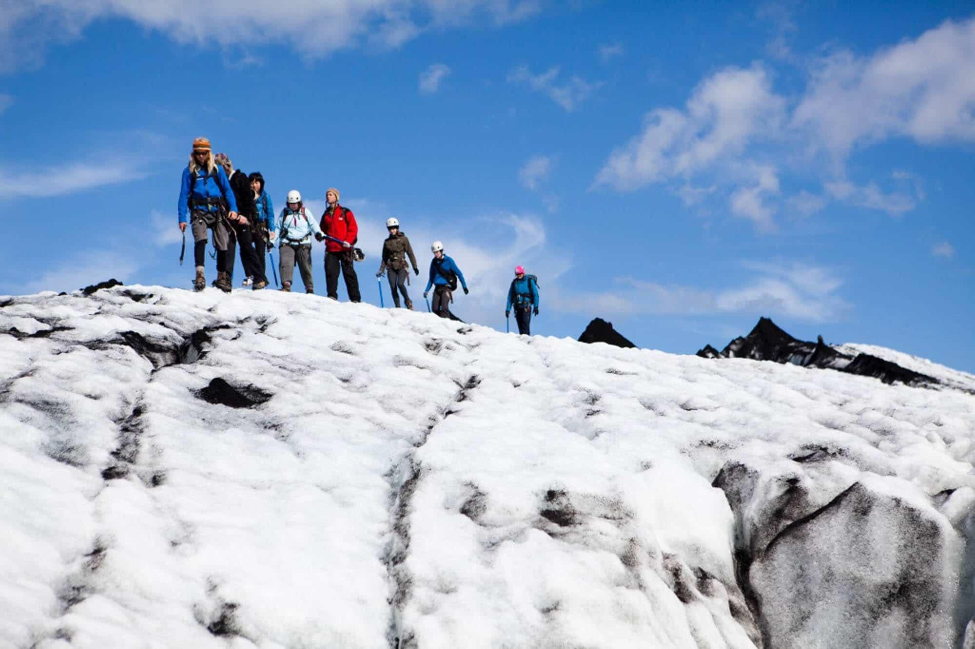 Hiking on Glacier Iceland
