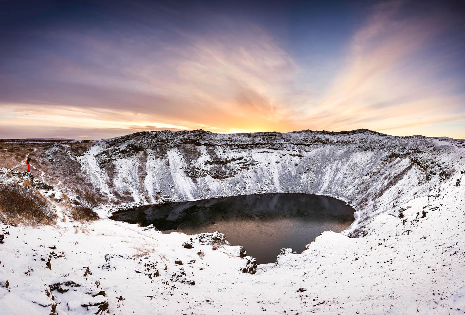 Kerid Crater in Winter - Golden Circle extra stop