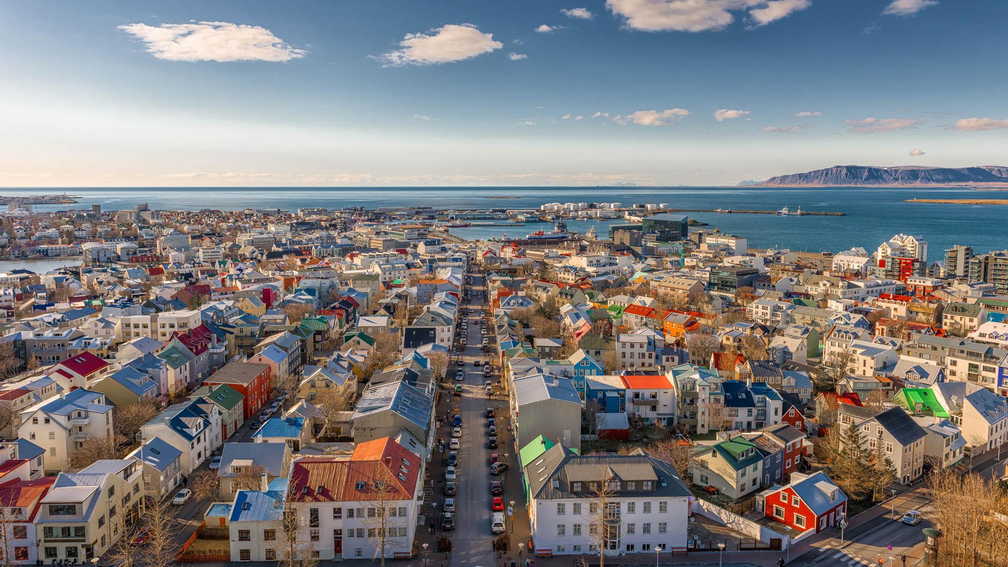 Reykjavik Iceland Summer Top View