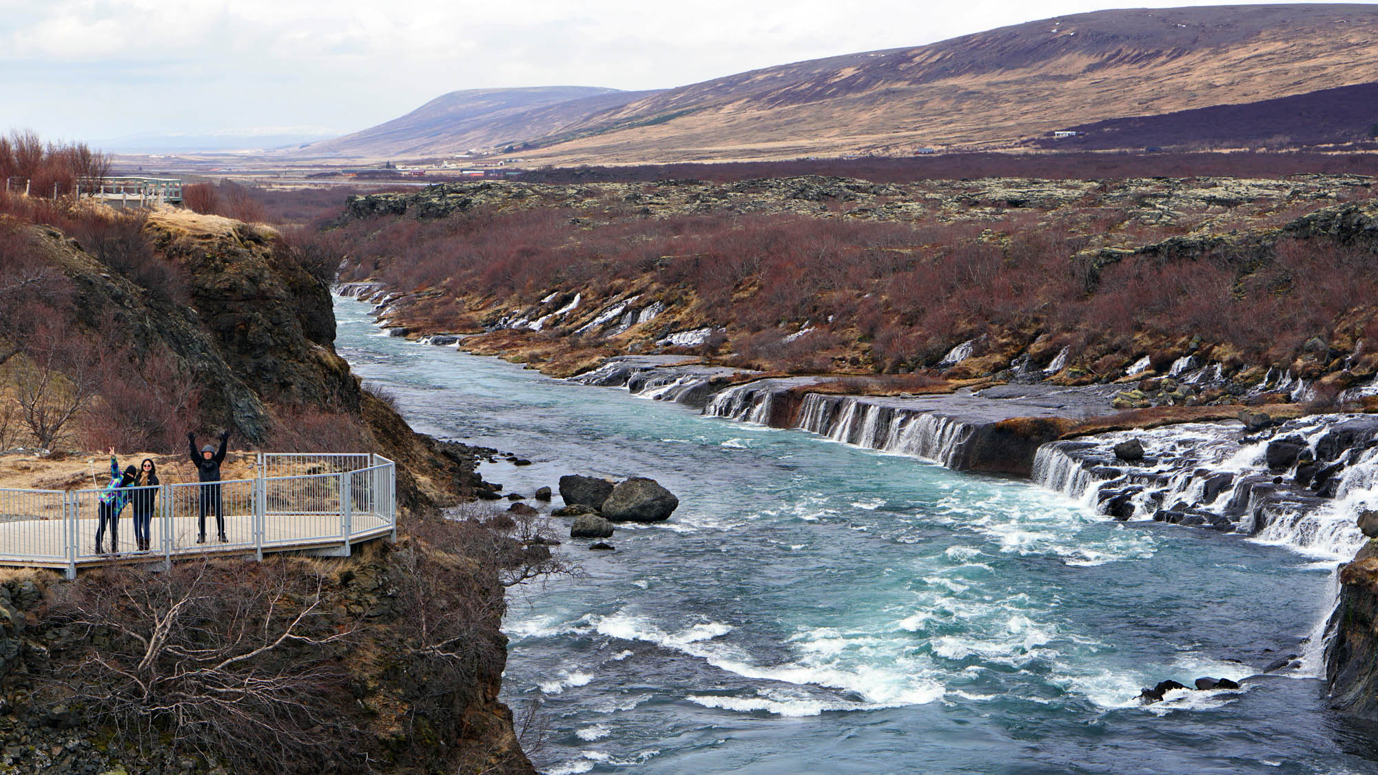 Hraunfossar Waterfalls - Iceland family tour package