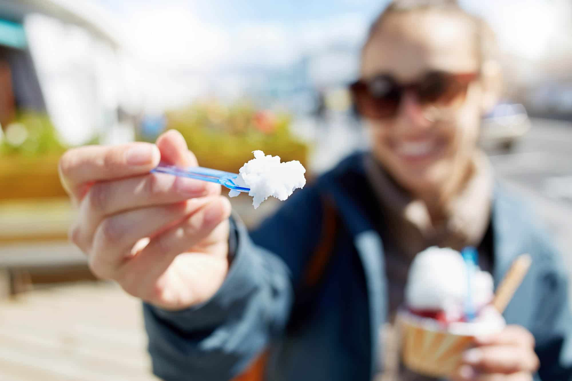 Ice cream in the city - Valdís - iceland family vacation