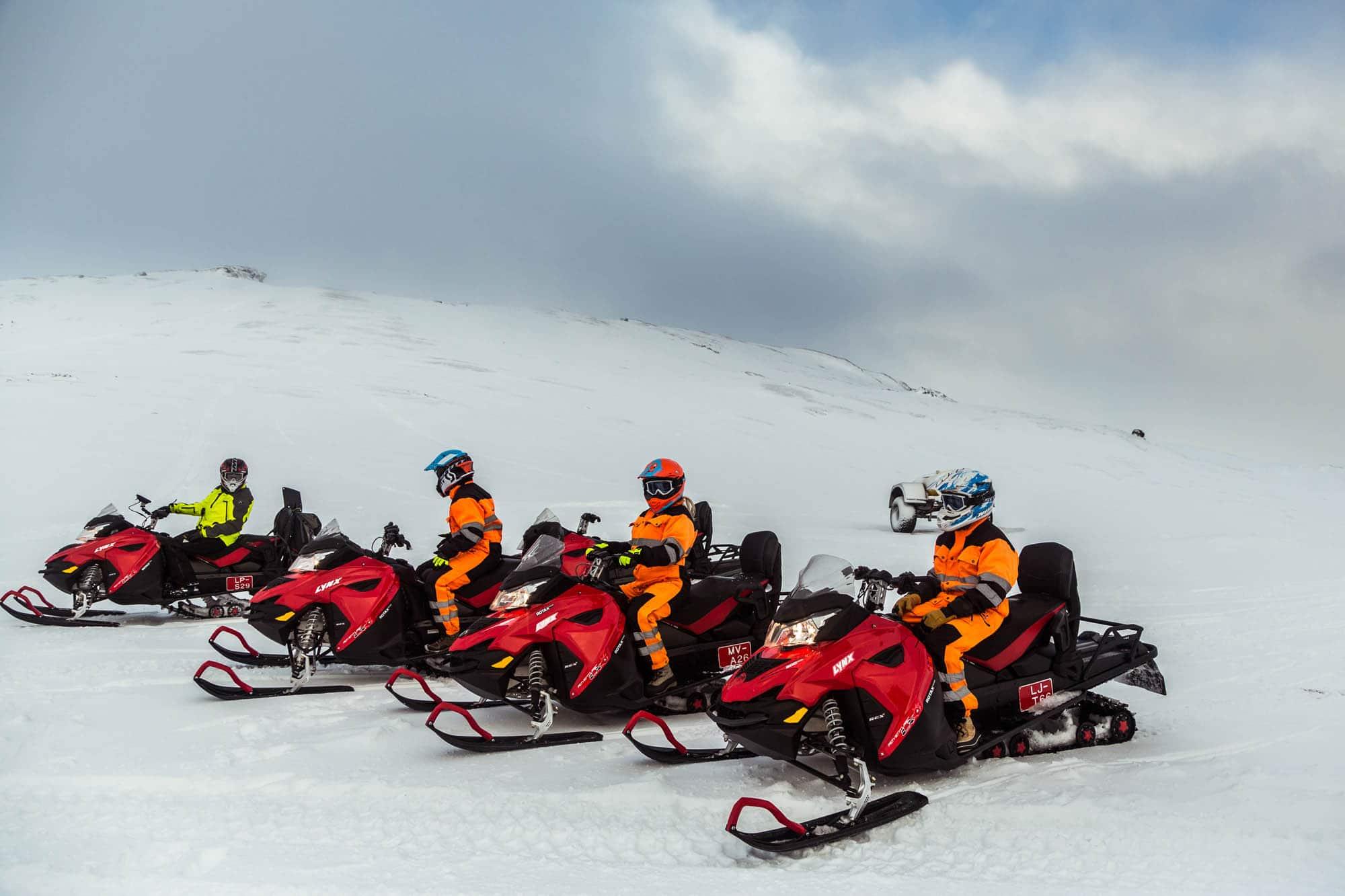 iceland snowmobiling tour langjokull glacier iceland