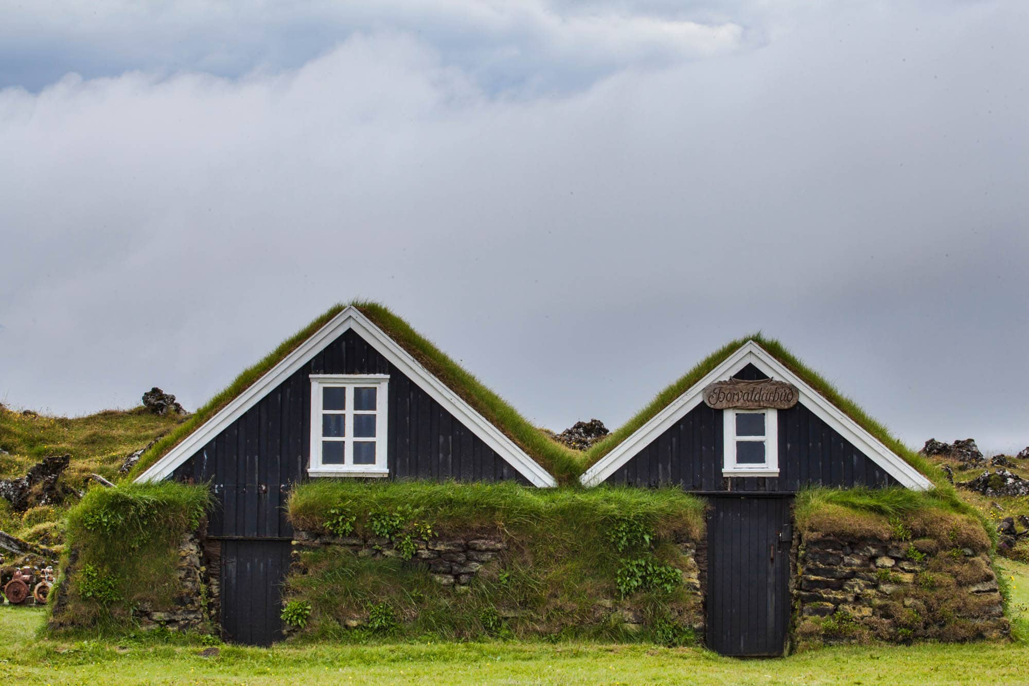 Turf Houses at Skógar - Iceland with children