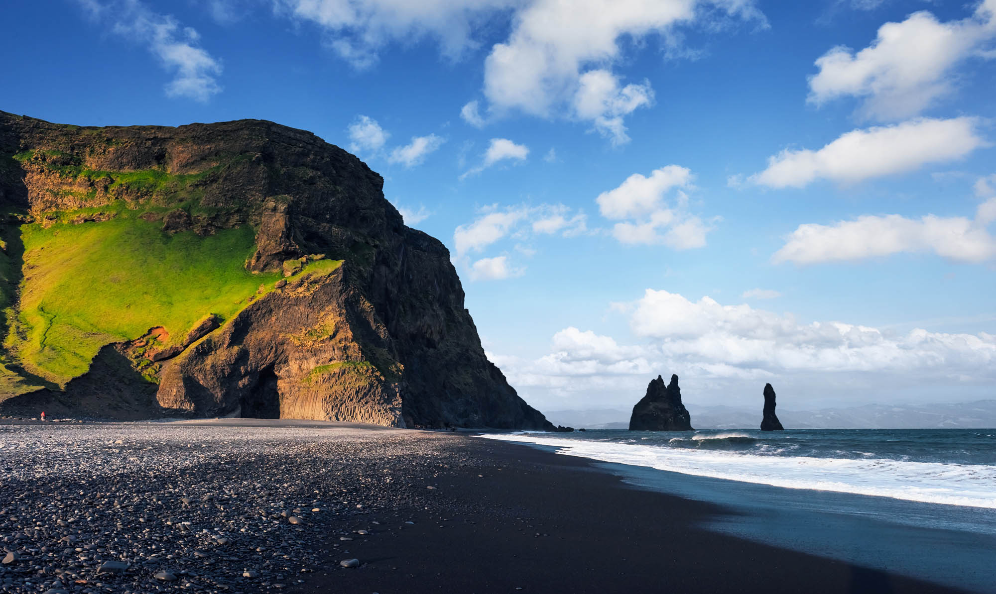 Black Sand beach Reynisfjara near vik