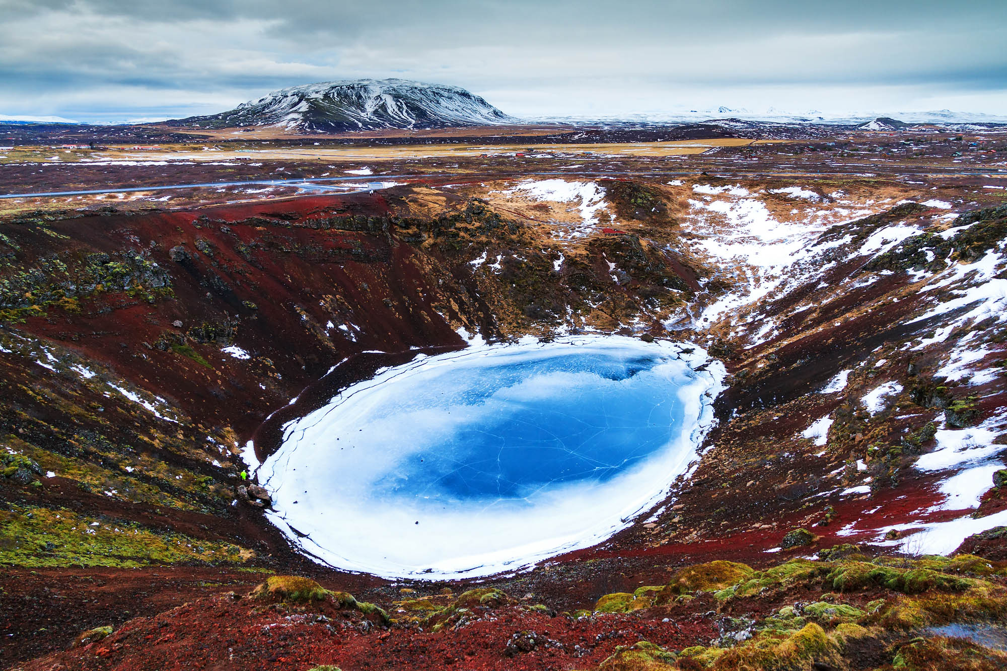 Kerid crater in winter - Iceland winter package