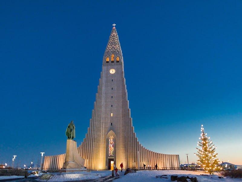 Hallgrímskirkja Church in Reykjavík - Photo from Íslandsstofa - Iceland Christmas Holiday