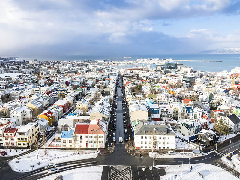 Winter streets of Reykjavik - Iceland winter tour