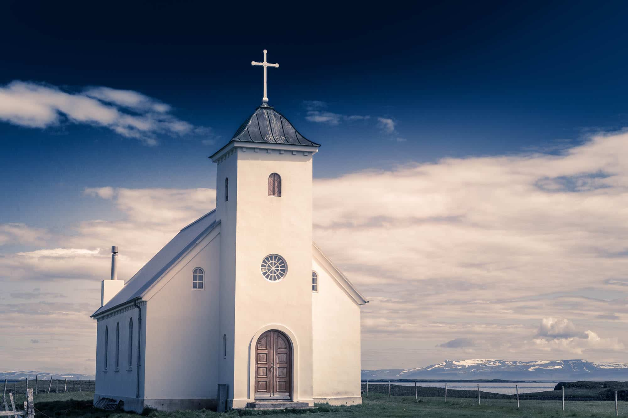 Flatey Church - West Iceland- between Stykkisholmut and Westfjords