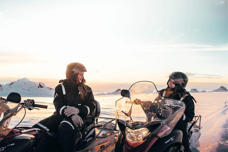 langjokull snowmobiling iceland