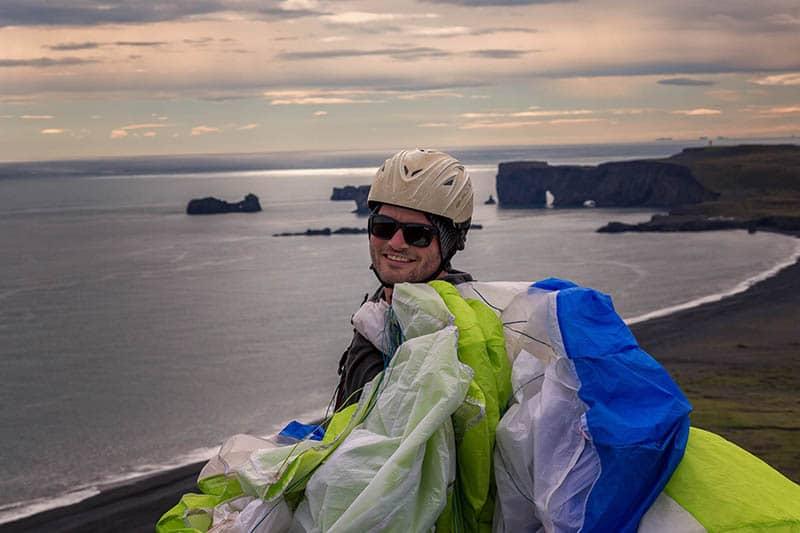 south iceland paragliding tandem