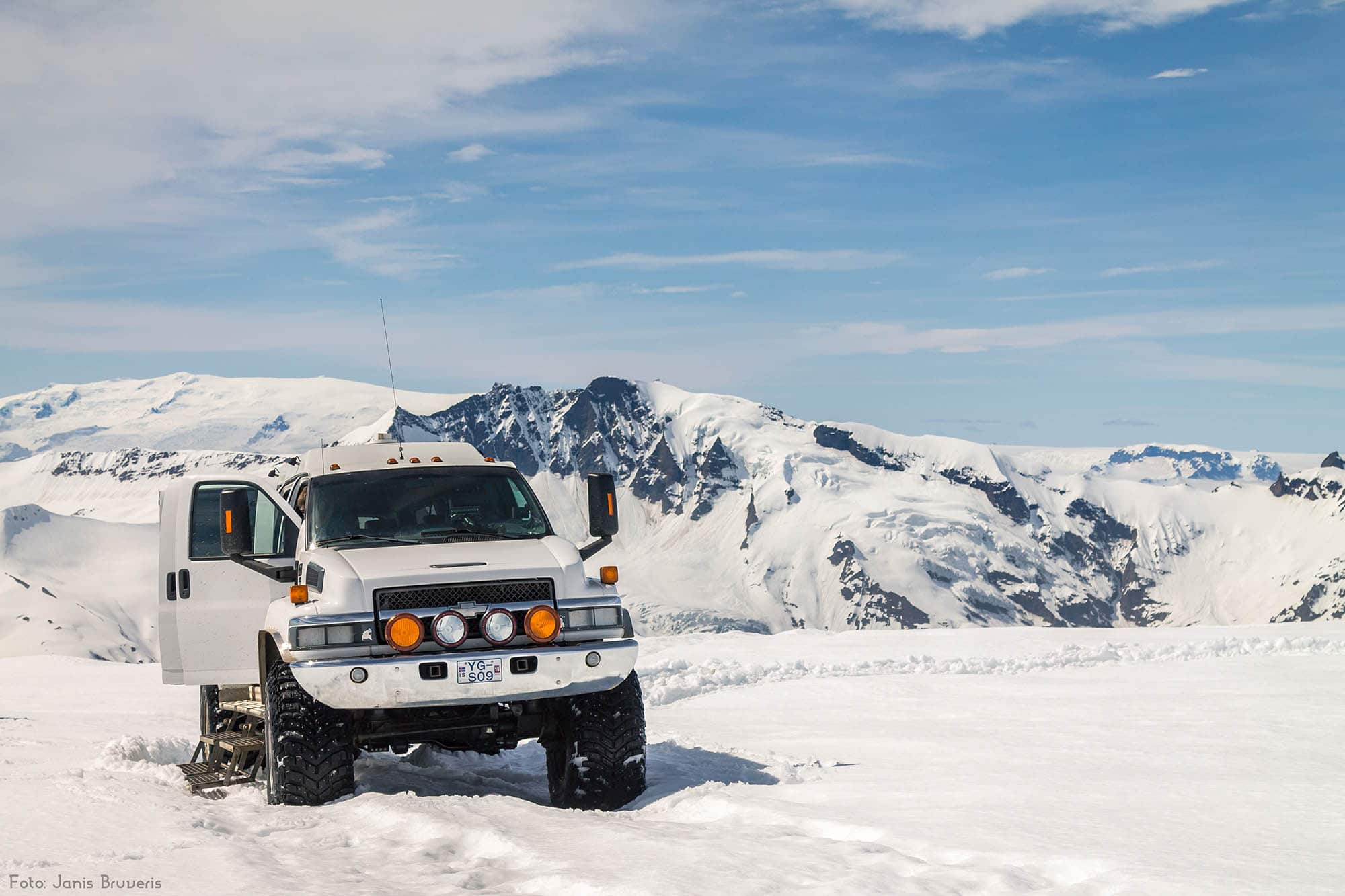 iceland super jeep tour on a glacier - photo by janis bruveris