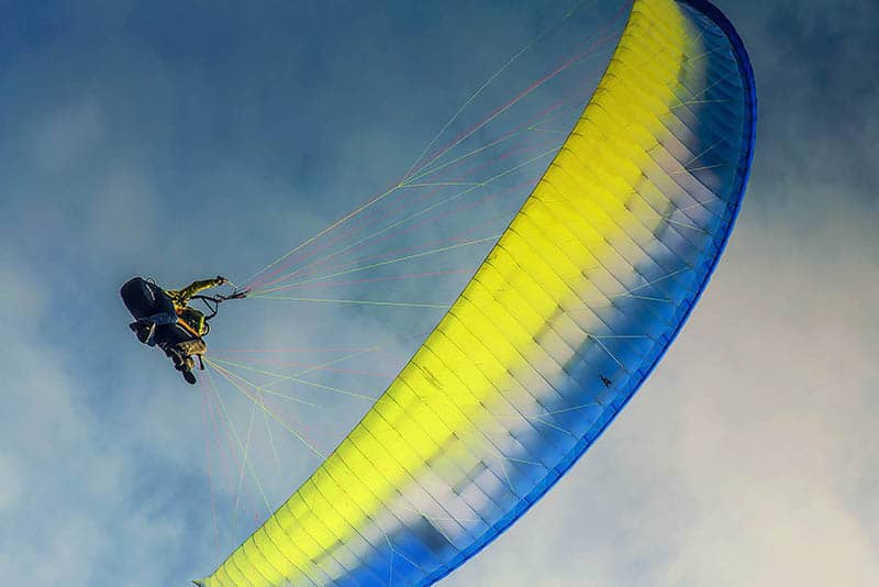 paragliding in south iceland
