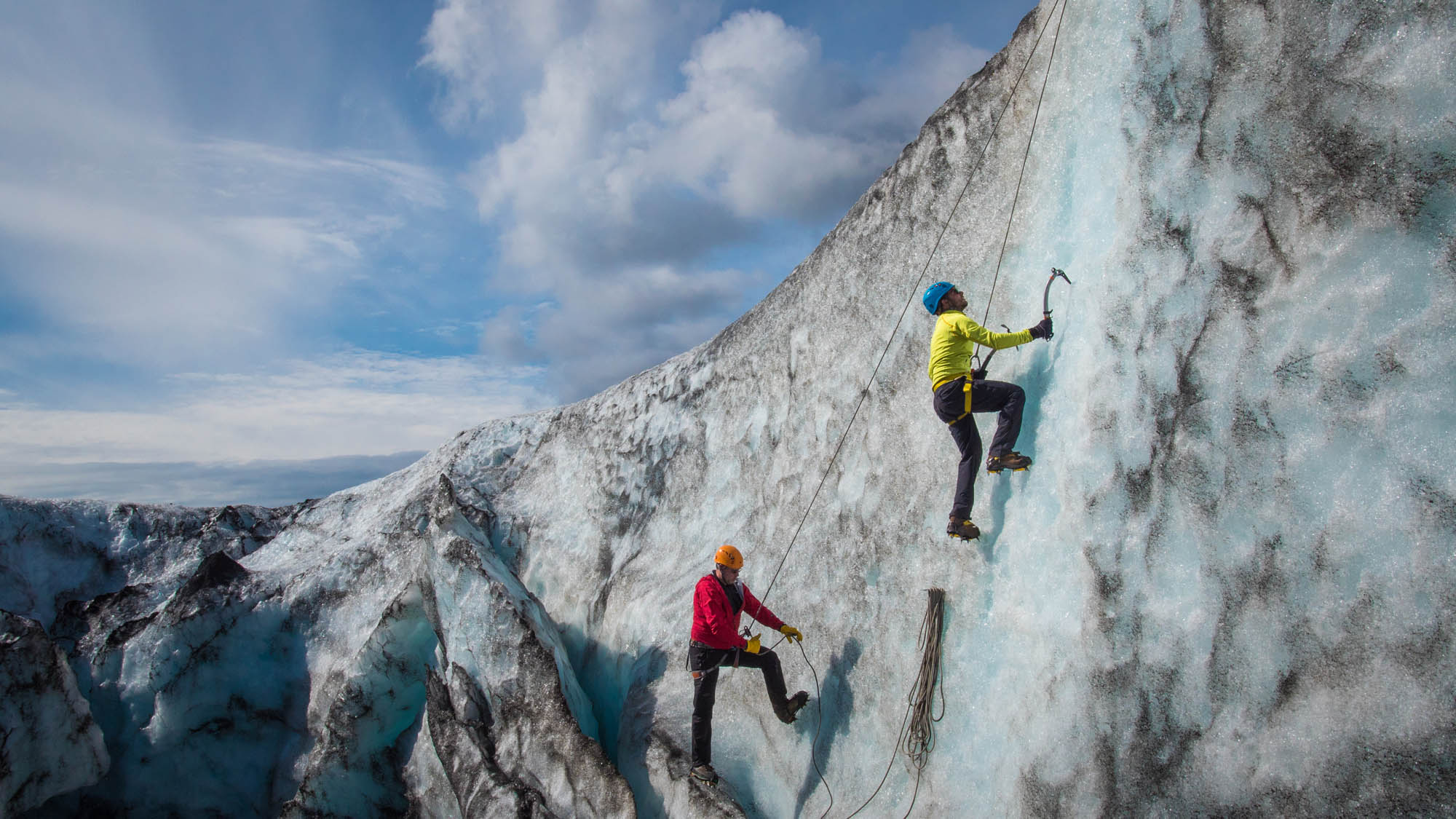 Iceland glacier walk and ice climbing - photo by Jan Zelina